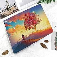 印刷者IPad Pro 11 ケースiPad Pro 11 カバー 軽量 薄型 PUレザー 三つ折スタンド オートスリープ機能 2018年秋発売のiPad Pro 11インチ専用一人の木が山に来るホームイラストと秋の風景