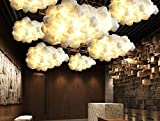Pendant Lamp Post-Modern Contemporary Fashion Simple Floating White Clouds Chandeliers Decorative Art Lights Hotel Lobby Silk Hotel Engineering Light