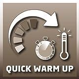 Einhell Flächenheizer FH 800 (230 V, 800 Watt, Thermostatregler, Befestigung als Wandheizung, Standfüße mit Lenkrollen, Kipp- und Überhitzungsschutz) - 3