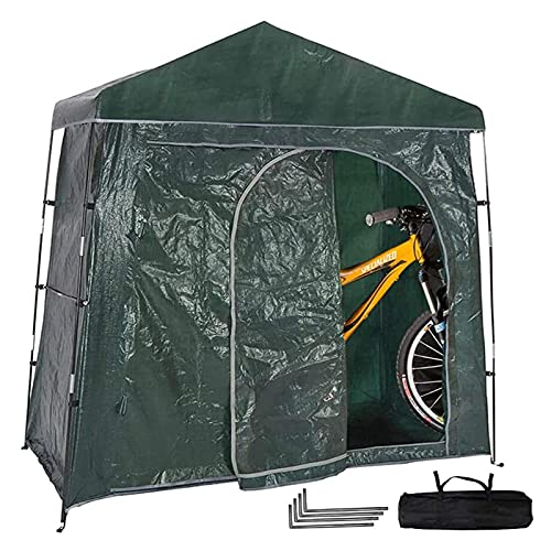 JTYX Carpa para Bicicletas, cobertizo para Guardar Bicicletas Almacenamiento versátil para Bicicletas con Dos Bicicletas para Adultos Cobertizo para Bicicletas con Marco Impermeable y Duradero