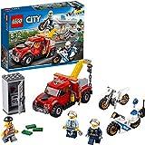 LEGO City Police - Camión Grúa en Problemas, Set de Construcción con Camión y Motos de Juguete,...