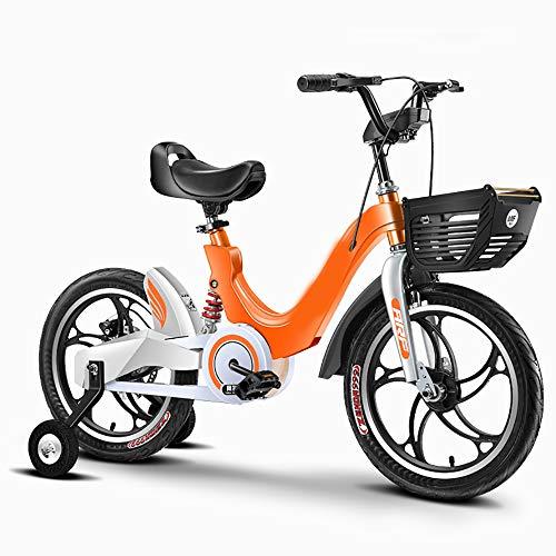 CAPTIANKN High-End-Kinderfahrrad, Empfindliche Bremsen, Anti-Rutsch-Reifen, Verstärkter Rahmen, Für Kinder Von 2 Bis 11 Jahren, Größe 18 Zoll,Orange