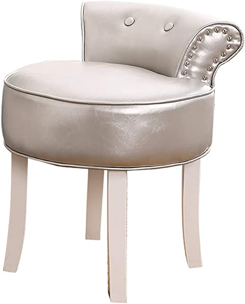 Comfortable Chair Vanity Stool With Cushions Cushioned Stool With Solid Wood Legs Lounge Stool Makeup Stool Baroque Piano Chair For Dressing Room Living Room Bedroom Restaurant Makeup Room Leisure C