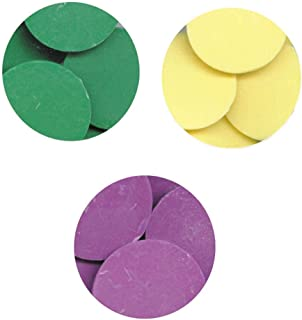 Merckens Easter Egg Color Chocolate Coating Melting Wafers CLASEN Brand Purple, Green Melting Chocolate & Merckens Yellow Melting Wafers Chocolate - 1 lb Each
