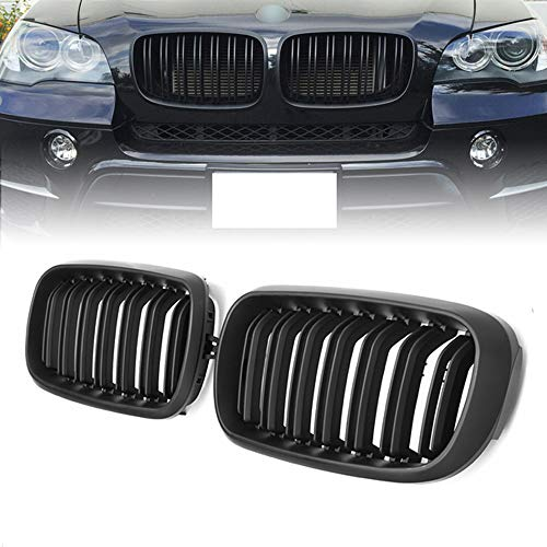 Front Replacement Kidney Grille Grill Compatible with BMW X5 Series F15 X6 Series F16 X5M F85 X6M F86 (Matte Black)