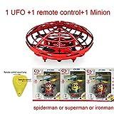 ZQALOVE Mini UFO Drone anticolisión Vuelo Helicóptero Mano Mágica Bola OVNI Aviones de detección de inducción eléctrica Drone Kid Juguetes electrónicos ( Color : Set 1 )