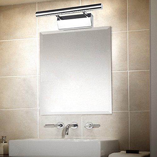 Elinkume 9W 95-265V Acryl LED Edelstahl Spiegelfrontleuchte (Spiegelleuchte)