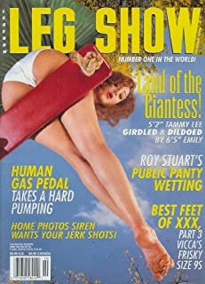 Leg Show Magazine - October 1998: Foot Fetish Magazine with Porn Star Vicca, Anna Lee Nude in Public,