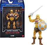 Masters of the Universe Masterverse Collection, Revelation He-Man 7-in Motu Battle Figure for Storytelling Play and Display, Gift for Kids Age 6 and Older and Adult Collectors