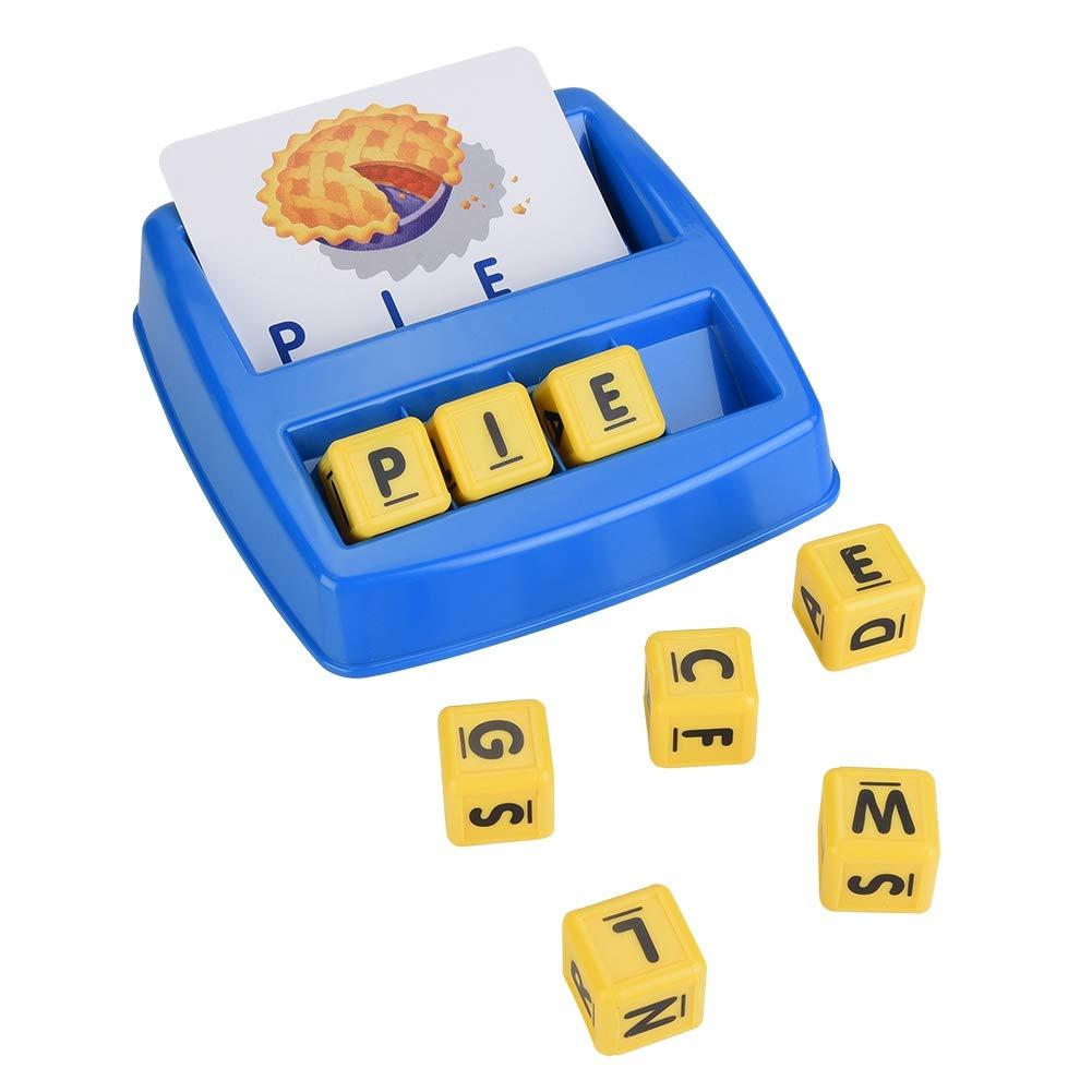 Juego Educativo de Cartas Niños Aprendizaje de inglés 3D Imagen compuesta Puzzle Compuesto de alfabetos para enseñar Reconocimiento de Palabras, ortografía y Aumento de Memoria, 3 años y más: Amazon.es: Juguetes y
