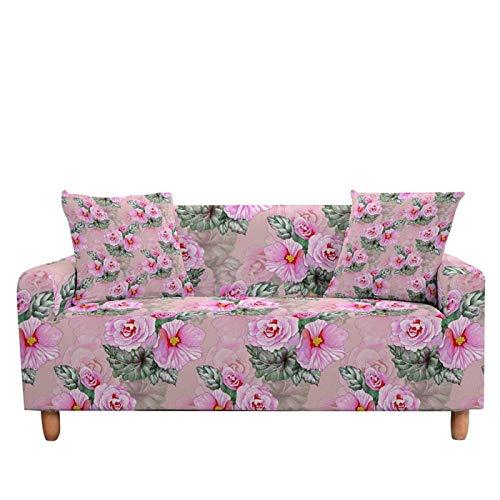 LucklyingBao Funda De Sofá Flores Rosa Abstractas Cubierta De Cubierta Antideslizante Elástica,1/2/3/4 Seater Couch Cover Stretch Stretch L Shaped Armchair Cover For Living Room,3 Plazas (190,230Cm)