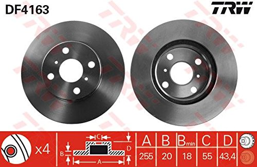 Preisvergleich Produktbild TRW DF4163 Bremsscheibe