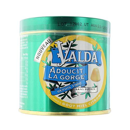 VALDA Gommes goût Menthe Eucalyptus Sans sucre (160 g)