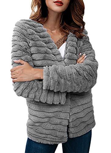 Bontmantel dames winter lange mouwen warm verdikte bontjas elegante jongens chic effen kleuren fashion vintage nep bont coat outdoorwear hoogwaardig