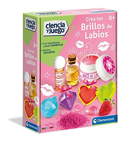 Clementoni-55280 - Crea tus Brillos de Labios - juego científico a partir de 8 años