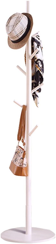 Xuan Yuan Coat Rack Solid Wood Coat Rack Floor Hanger Continental Coat Rack Size  172x40x40cm Home Storage (color   White)