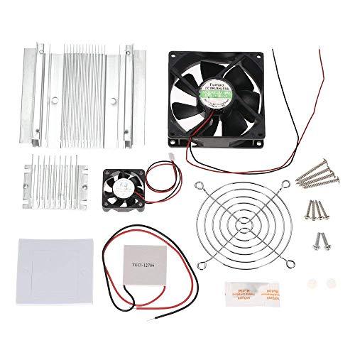 KKmoon Bricolaje Termoeléctrico Refrigeración Kit Semiconductor Refrigerador Módulo de conducción + Radiador + Ventilador de refrigeración + TEC1-12706