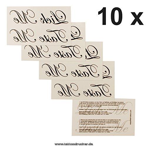 10 x Lick Me/Taste Me Tattoo Schriftzug in schwarz - Sexy Kinky Tattoo (10)