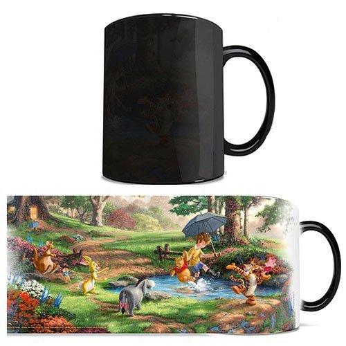 Disney - Winnie the Pooh - Eeyore Rabbit Piglet Tigger - Thomas Kinkade - One 11 oz Morphing Mugs Color Changing Heat Sensitive Ceramic Mug – Image Revealed When HOT Liquid Is Added!