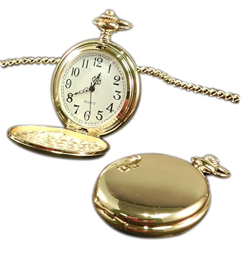 Luxury Engraved s UK Men's Best Friends Pocket Watch Gold Tone, Personalised/Custom Engraved in Box Gold