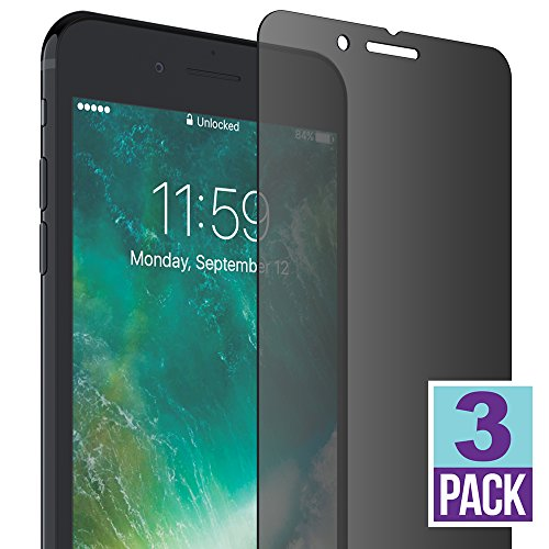 FlexGear iPhone 7 8 Plus Privacy Glass Screen Protector [New Generation] Premium, Tempered,...