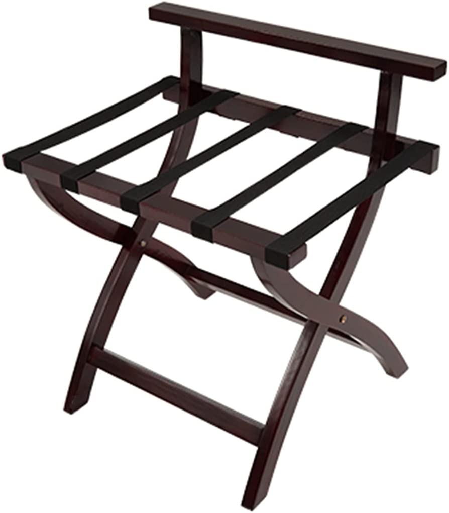 Wooden Folding Luggage Rack quality Reservation assurance Suitcase Nylon Webbing with St Stand