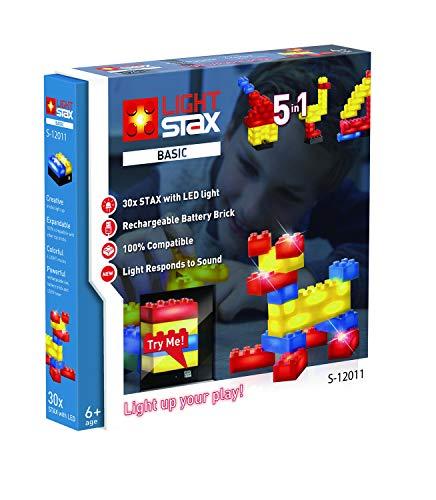 Abanico S-12011 - LIGHT STAX Basic Creator 5 in 1, kompatibel mit dem STAX System und allen bekannten Bausteinmarken, mit 30 STAX in verschiedenen Farben und Formaten