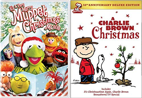 Great Kids Christmas Classics with A Charlie Brown Christmas (50th Anniversary Deluxe Edition) & It's a Very Merry Muppet Christmas Movie 2-DVD Bundle