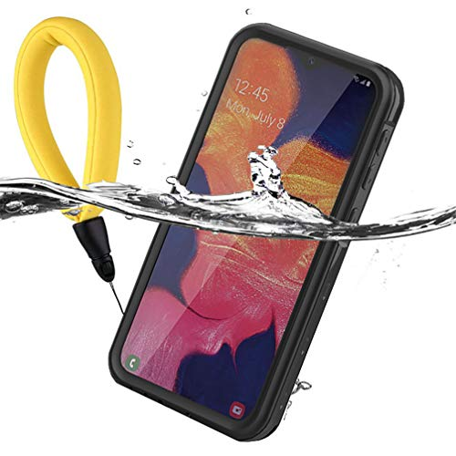 Anyos Galaxy A10e Waterproof Case, Samsung Galaxy A10E Underwater Case Built in Screen Protector 360° Full Body Protective Shockproof Dustproof Snowproof Cover (Black)