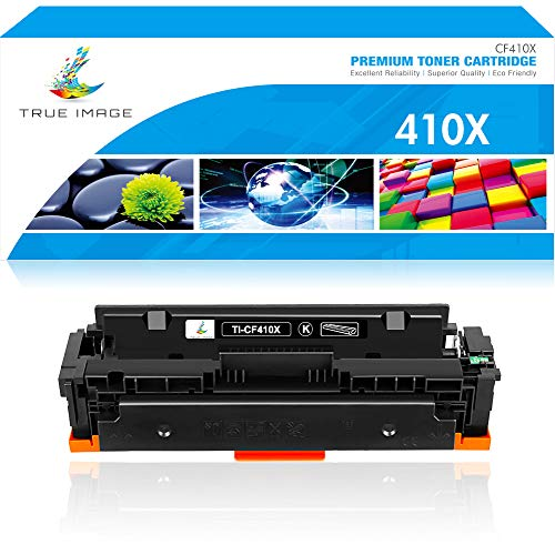 True Image Compatible Toner Cartridge Replacement for HP 410X CF410X CF410A 410A M477 M452 Laserjet Pro MFP M477fdw M477fnw M452dw M477fdn M452nw M452dn M377dw (Black, 1-Pack)