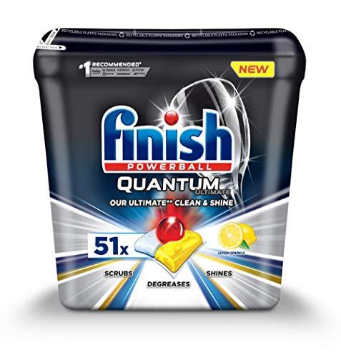 Finish Powerball Quantum Ultimate - Pastillas para lavavajillas (51 unidades, limón, limón, 1790 g)
