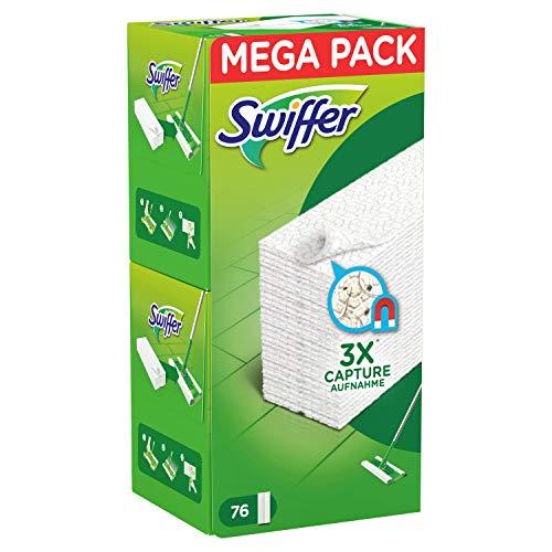 Swiffer Ersatztücher für Besen, 76 Stück, zum Aufwärmen und Abnehmen von 3 Volten mehr Pole, Sporco und Peli einer traditionellen Besen