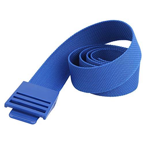 zhoul 150CM Cinturón de Peso de Buceo Duradero Cinturón de Nailon con Hebilla de plástico, cinturón de Cintura de Bolsillo de Buceo para Equipo de Buceo(Azul)