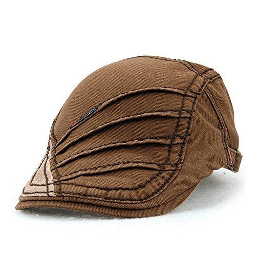 Women's Novelty Summer Cotton Beret Newsboy Visor Cap Hat Coffee