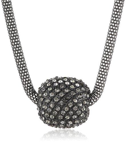 PIECES Damen-Halskette Metall Domani Gunmetal 17052942 XY