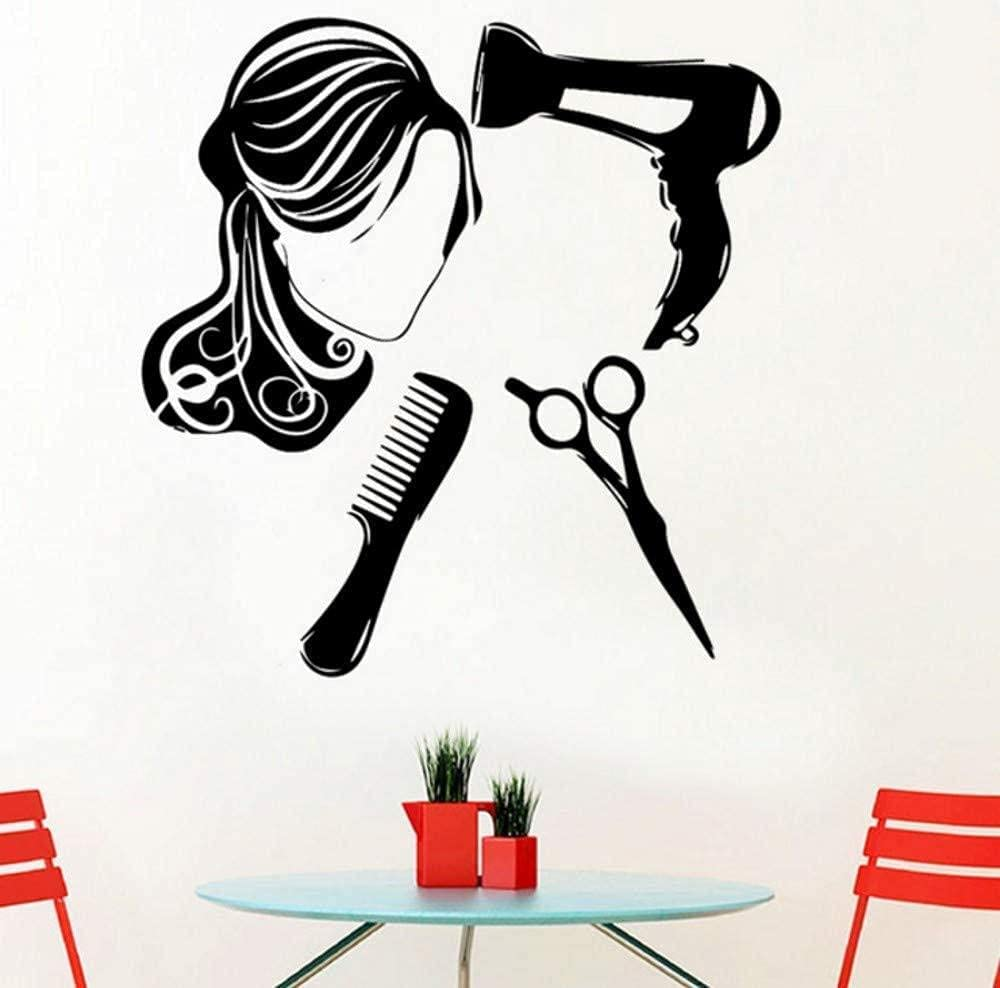 Fashion Virginia Beach Mall Wall Stickers Superior Romantic PVC Home Decorations Hairdressing