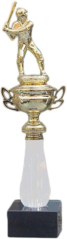 トロフィーチャンピオントロフィーマーブルベースオーウェンフーボールカバーチャンピオンズリーグトロフィースポーツ会議記念トロフィーベストギフト メダル モデル (Color : ゴールド, Size : 36*7*7cm)