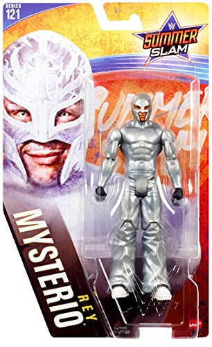 WWE Rey Mysterio Basic Core Sumer SLAM Collection Series 121 Figura de acción de 6 pulgadas