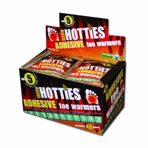Little Hotties Warmers - Adesivi per riscaldare le dita dei piedi, 40 pezzi, taglia unica, arancione