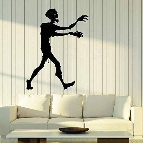 Vinyl Art Wandaufkleber Cartoon Zombie Videospiel Halloween Charakter Dekoration Aufkleber Wallpaper Geschenk
