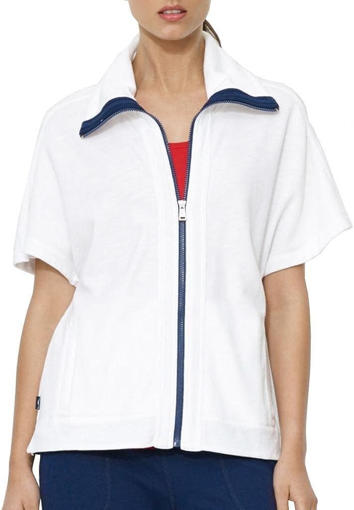 LAUREN RALPH LAUREN French Terry Front Zip Jacket, XS, White