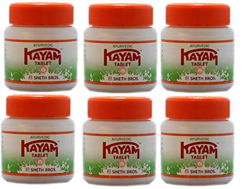 Ayurvedic Kayam Tablet - 30 Tablets PACK OF 6(Ship from India)