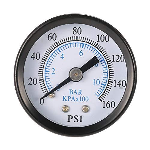 Hemobllo Manomètre de Pression de compresseur d'air à Montage latéral 0-160 LB/po² 0-10 Bars NPT