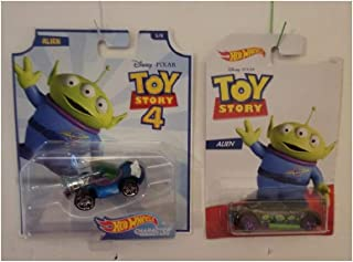 Hot Wheels Toy Story 4 Character Car Alein Set with Bully Goat Car