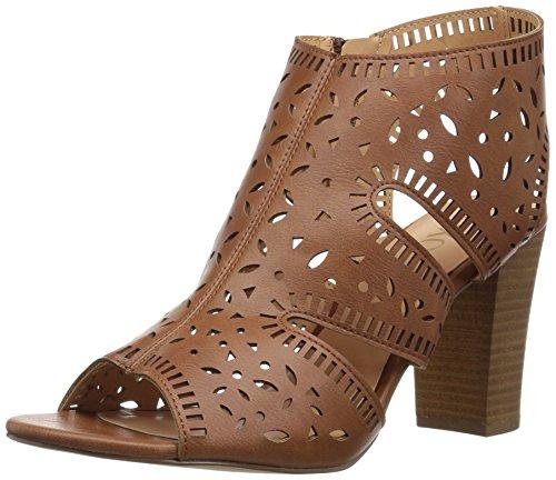 XOXO Women's Bloom Heeled Sandal, tan, M110 M US
