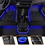 Muchkey Coche Alfombrillas con Azul Luz LED para Lexus IS 2000-2004 Moqueta a Medida Alfombras