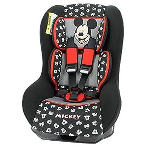 Mycarsit - Silla de coche disney grupo 0+/1 de 0 a 18 kg - fabricación 100% francesa - 3 estrellas test tcs - 7 colorido - reposa cabeza y asiento tapizado y acolchado.