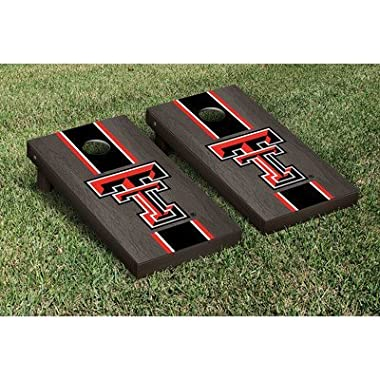Texas Tech Red Raiders Regulation Cornhole Game Set Onyx Stained Stripe Version