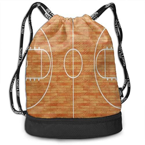 Wearibear Mochila para amantes del deporte, de baloncesto, parquet, portátil, impermeable, con correa ajustable, para mujeres, hombres, niñas, niños, deportes al aire libre, senderismo
