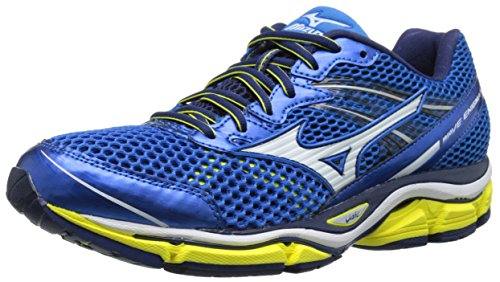 Mizuno Men's Wave Enigma 5 Running Shoe, Electric Blue Lemonade/White, 9.5 D US